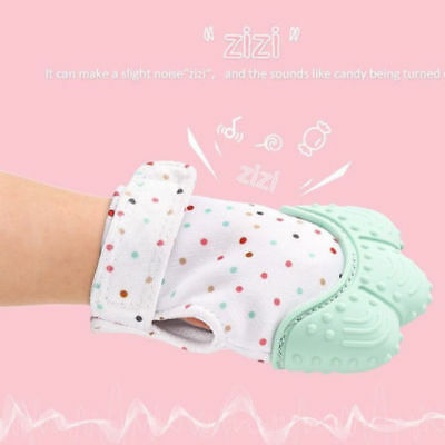 Silicone Baby Mitts Teething Mitten Teething Glove Candy Wrapper Sound Teether 8