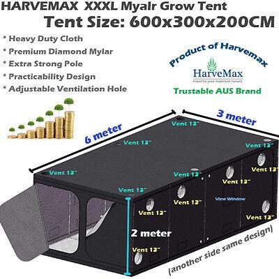 HYDROPONICS HARVEMAX MYLAR Grow Tent Growroom Fo LED HPS/MH Grow Light Fan  Setup