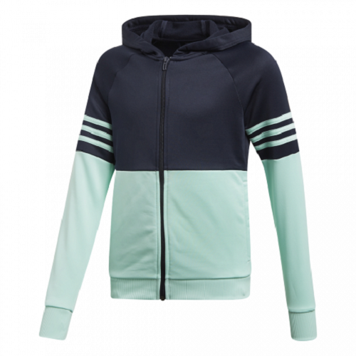adidas girls navy/mint zip up tracksuit. Jogging suit. Age 5-6, 7-8 & 9-10 years 2