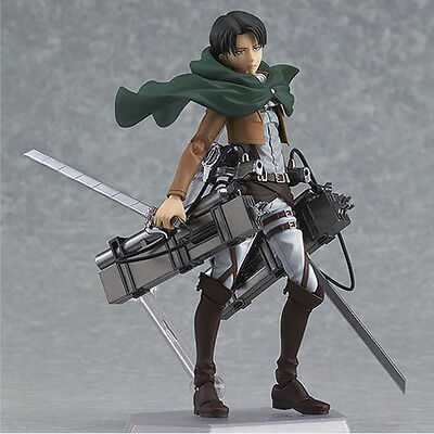 HOT Anime Shingeki No Kyojin Attack on Titan 15cm Rivaille Action Figure PVC Toy 3