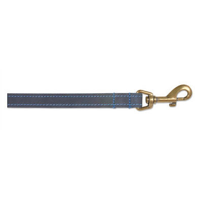 Ancol Timberwolf Round Sewn Leather Dog Collar Lead Sable Brown Blue Navy 5