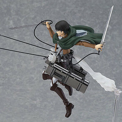 HOT Anime Shingeki No Kyojin Attack on Titan 15cm Rivaille Action Figure PVC Toy 4