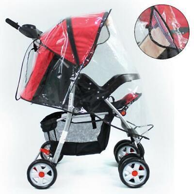 Quality Universal Buggy Pushchair Stroller Pram Transparent Rain Cover Vent Baby 2