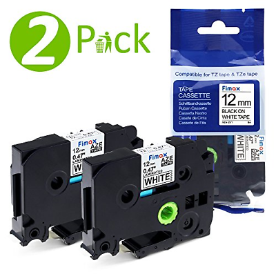 Fimax Tech Compatible Label Tape TZe-231 TZe231 TZ231 for Brother P-Touch 1010, 12