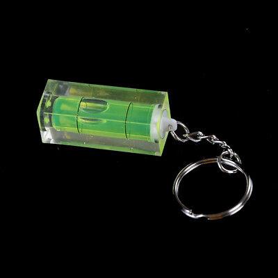 Mini burbuja nivel llavero llave herramienta DIY anillo gadget novedad regalo 3