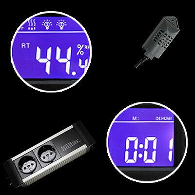 Hygrostat Ent-/befeuchter Zeitschaltuhr Alarm Terrarium *display-Extern* Txg 4