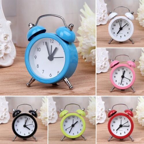 Home Room Kid Portable Teen Mini Cute Dial Number Round Desk Alarm Clock
