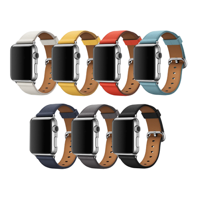 Leather Band Bracelet Strap For Apple Watch Series 4 3 2 1 38mm/40mm/42mm/44mm 2