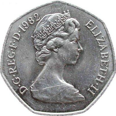 1969 TO 1997 ELIZABETH II CUPRO NICKEL LARGE DECIMAL 50p - CHOICE OF YEAR / DATE 2