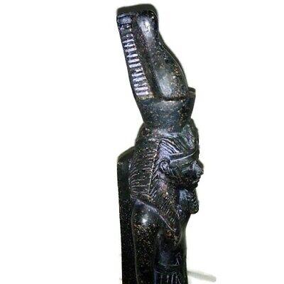 Rare Ancient Egyptian Pharaoh King Ramsis II Statue Great Stone Black 1279 BC 4