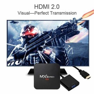 2019 MXQ PRO 4K QuadCore WiFi K 3D Smart TV Box Media Player Android 7.1 AU HDMI 4