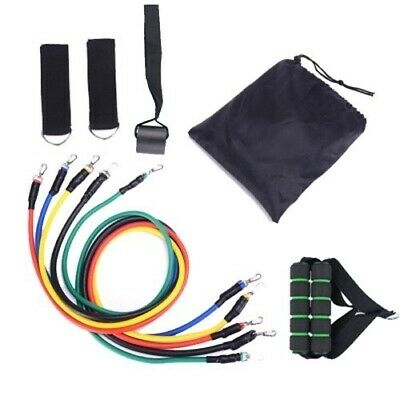 11pcs Resistance Bands Set Exercise Fitness Tube Workout Bands Strength Training 10