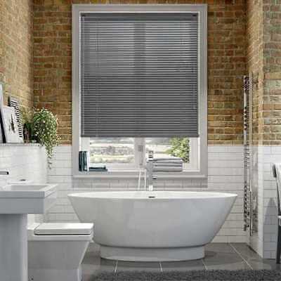 New PVC Blinds Window Venetian Easy Fit Blinds Home Office Wood Effect All Sizes 3
