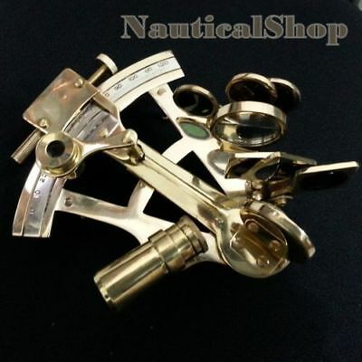 """4"""" Solid Brass Sextant Nautical Marine Instrument Astrolabe Ships Maritime Style 4"""