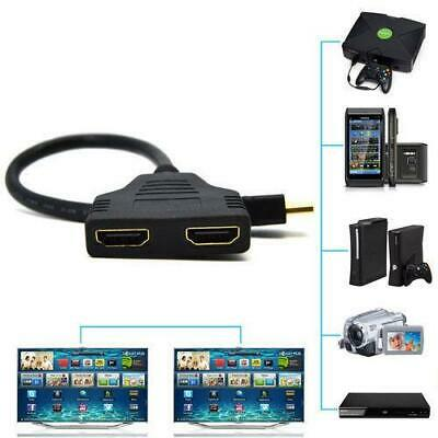 HDMI Splitter 1 In 2 Out Cable Adapter Full HD 1080P Male to 2 Female 3D 5