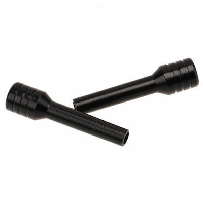 2pcs/set Aluminum Black Car Truck Interior Door Lock Knob Pull Pin Black 6