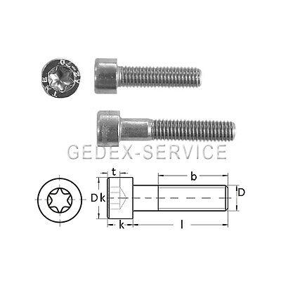 25 Stück Zylinderkopfschrauben niedrig ISO 14580 A2 M3X25 ähnl DIN 7984 TORX