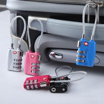 TSA Resettable 3 Digit Combination Lock Travel Luggage Suitcase Code Padlock New