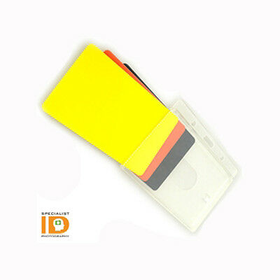 Vertical Rigid Badge Holder for Thick HID Clamshell Cards 70 Mil Prox Card II