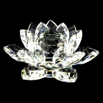 Large Clear Crystal Lotus Flower Ornament With Gift Box  Crystocraft Home Decor 3