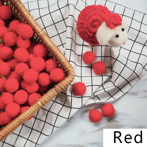 10pcs Fluffy Wool Felt Balls DIY Nursery Garland Decor Pram Hanging Ornament New 3