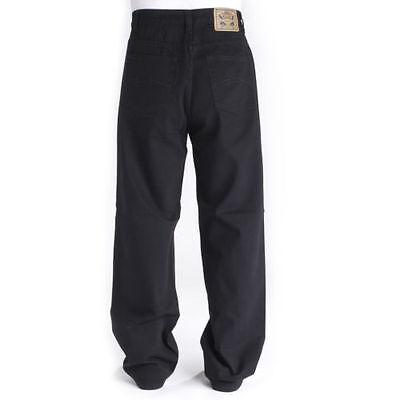 Bleubolt Xhatch 24 inch Hem Skater Baggy Loose fit Jeans Trousers Style 5785