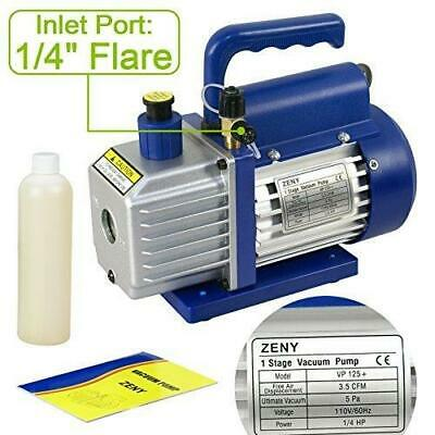 ZENY 3,5CFM Single-Stage 5 Pa Rotary Vane Economy Vacuum Pump 3 CFM 1/4HP Air 3