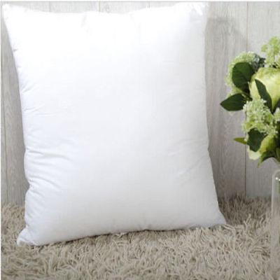 2x European Cushion Pillow Inserts Polyester Filling White 65x65cm