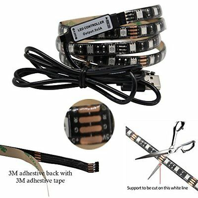 Wireless 5050 SMD 3M RF Remote Battery & USB Powered RGB LED Strip Light 5V 2