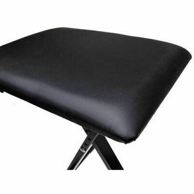 Portable Piano Stool Adjustable 3 Way Folding Keyboard Seat Bench Chair Black 6