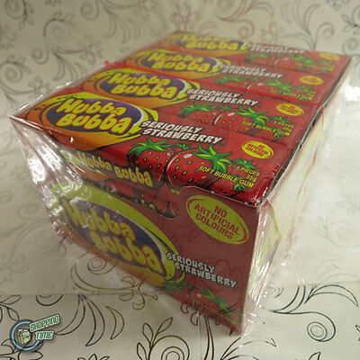 20x Hubba Bubba Wrigley's Soft Bubble Chewing Gum Wrigley Strawberry Red