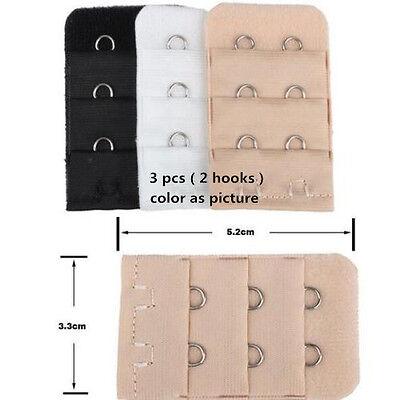 a6a0e202460d1 ... 3 pcs Adjustable Bra Buckle Extender Bra Extension Underwear Strap 2 3 4  Hooks