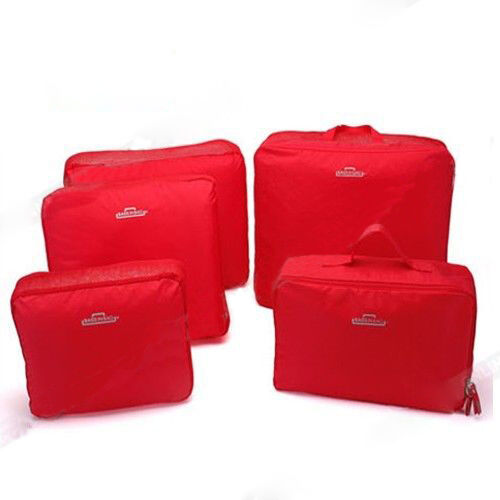 5pcs Packing Cube Pouch Suitcase Storage Bags Clothes Travel Luggage Organizer 8