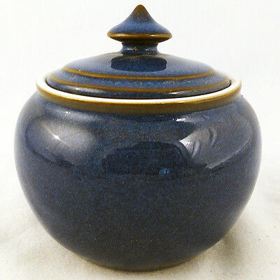 "IMPERIAL BLUE by DENBY JUG SMALL 4.25"" tall NEW NEVER USED made in England"