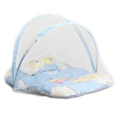 US Portable Foldable Baby Kids Infant Bed Dot Zipper Mosquito Net Tent Crib 6