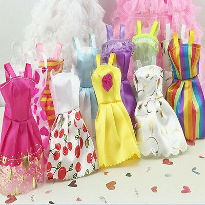 US 10 pcs/Lot Fashion Handmade Party Clothes Dresses outfit for Barbie Doll Toy 3
