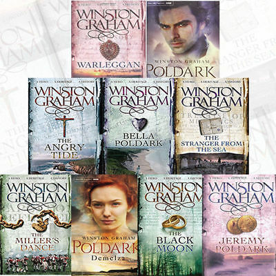 Winston Graham Collection Poldark Series Vol 1 Warleggan Black Moon 9 Books Set 2