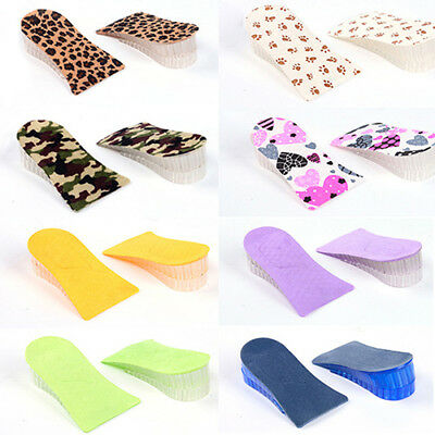 Unisex Silicone Lift Height Increase Layers Shoe Insoles Heel Insert Pad Faddish