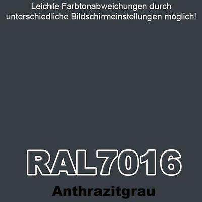 METALLSCHUTZLACK RAL 7016 ANTHRAZITGRAU 1kg Rostschutz Lack Set + Pinsel  Zubehör