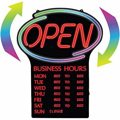 NEWON LED Open Sign with Programmable Business Hours & Flashing Effects, ENGLISH 2