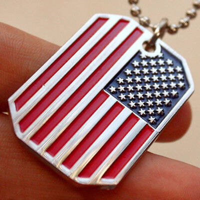 Usa flag pendant american old glory stars stripes dog tag ball chain 3 of 9 usa flag pendant american old glory stars stripes dog tag ball chain necklace us aloadofball Choice Image