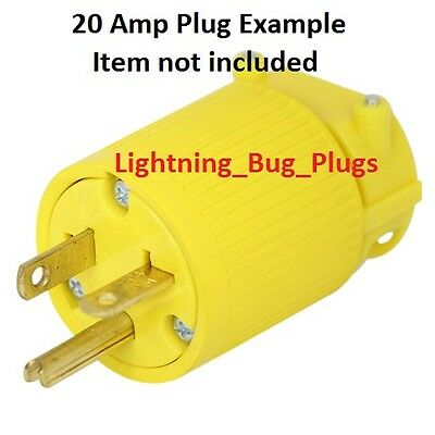 NEW! MALE 15 Amp to 20 Amp Female Plug T-Blade Adapter 3 Prong ...