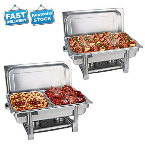Bain Marie Bow Chafing Dishes Stainless Steel Buffet Warmer Stackable Set AU 3