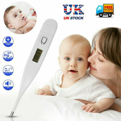 LCD DIGITAL AUDIBLE THERMOMETER Temperature Fever Adults Kids Baby Oral Underarm 2