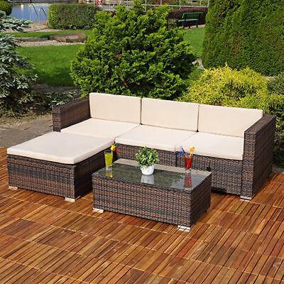 Rattan Garden Furniture Corner Sofa Set Lounger Table Outdoor Patio Conservatory 2