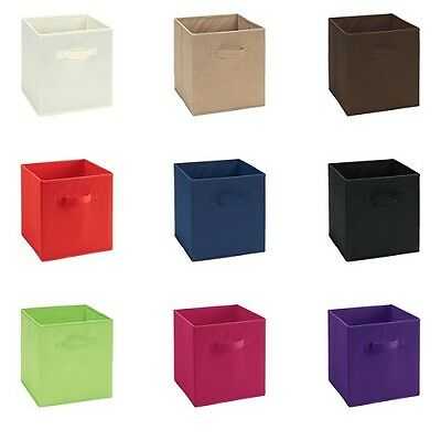 1 Of 10free Shipping Storage Cube Basket Fabric Drawers Best Cubby Organizer Box Bin 6 Pack 12 Colors