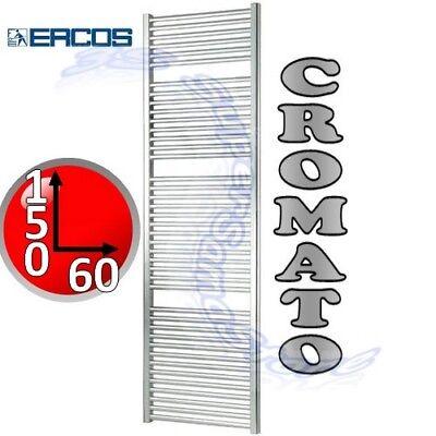 3S SCALDASALVIETTE CROMATO RADIATORE BAGNO H 180 L 45 cm TEKNO ERCOS CROMO NUOVO