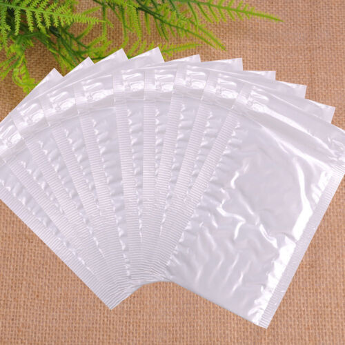 New Chic White Poly Bubble Mailers Padded Envelopes Self Seal Bag Shipping Bags 4
