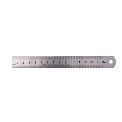 1PC Metric Rule Precision Double Sided Measuring Tool  15cm Metal Ruler HV 3
