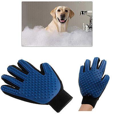 Pet Deshedding Cleaning Brush Glove Dog Hair Massage Grooming Groomer Optimal 2